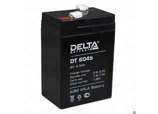 Аккумулятор DELTA DT 6045 гелевый 6v 4,5ah (70 x 47 x 102)