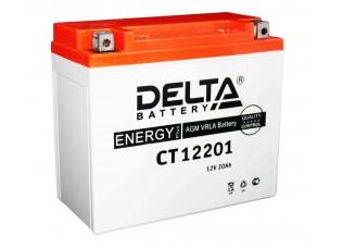 Аккумулятор DELTA CT 12201 YTX20L-BS (175 х 87 х 155) (плюс справа)