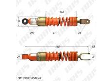 Амортизатор задний (L-280mm,D-10mm,M8) БТ (RUS); SUZUKI