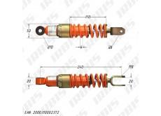 Амортизатор задний (L-240mm,D-10mm,M8) БТ (RUS); JOG50