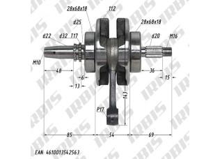 Вал коленчатый в сборе 4Т 169FMM (CB230) p17mm