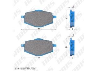 Колодки тормозные дисковые ATV200-500, YBR125 (перед.), GRACE (зад.)