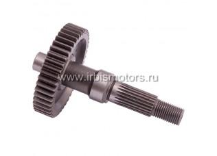 Вал редуктора ведомый AF18/24 (L=120mm) с шестерней (45Т)