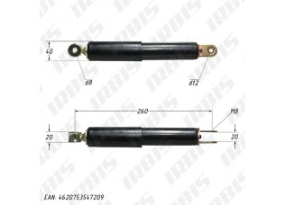 Амортизатор передний (L-260mm,D-8mm,M8) (закр.) LEAD50,J50,CITY (маятниковая подвеска)