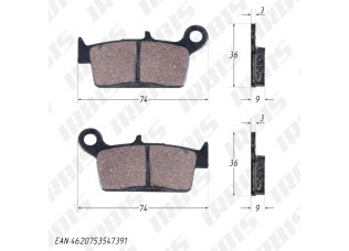 Колодки тормозные дисковые LEAD50/90 (HF101)