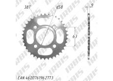 Звезда ведомая (530-38T) (4x63) CG125-250, CB125-250; TTR250a std (original)