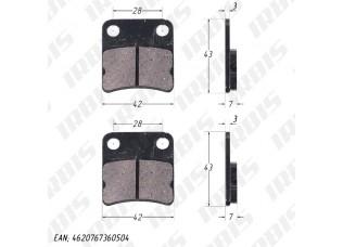 Колодки тормозные дисковые TTR125 (зад.)