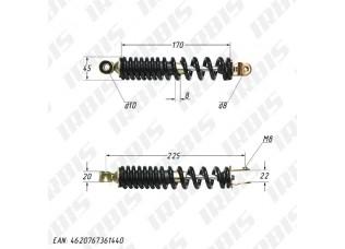 Амортизатор задний (L-225mm,D-10mm,M8) JOG50,J50,CITY