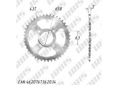 Звезда ведомая (428-43T) (4x63) CG125-250, CB125-250