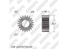 Шестерня привода масляного фильтра 165FMM (CBB250) 21T (19) h=18мм
