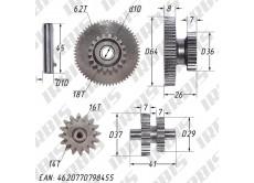 Шестерни электростартера 162FMJ,163FML SH(XY) (CG125-150)
