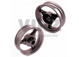 Диск колесный R13 перед/зад 3.50-13 (торм. диск. 3x67 /диск. 3x67) карбон (пара)