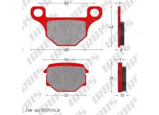 Колодки тормозные дисковые TTR250Rb, GR (зад.)