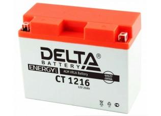 Аккумуляторная батарея 12V 16Ah (207x72x164) (залитая, необслуж.) DELTA
