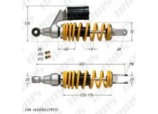 Амортизатор задний (L-300mm,D-8,10,12mm,M8) (с подкачкой)