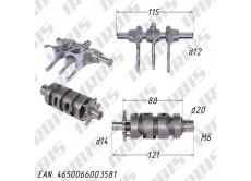 Вал переключения передач (копирный, с вилками) 170MM (жид. охл.) DOHC (CBB250)