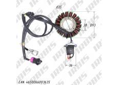 Статор генератора 170MM (жид. охл.) DOHC (CBB250) (18 кат.)