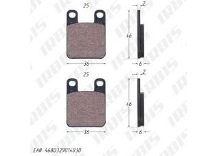 Колодки тормозные дисковые Peugeot,Italjet MALOSSI 6211520