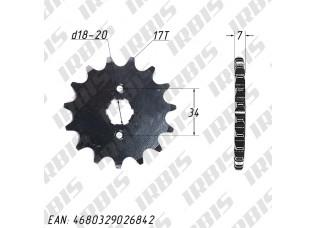 Звезда ведущая (520-17T) 157FMI,163FML,166FMM (CG,CB125-250)
