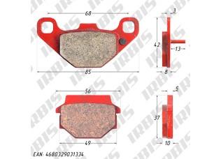 Колодки тормозные дисковые CECTEK, STELS (зад), BALTMOTORS (перед/зад)
